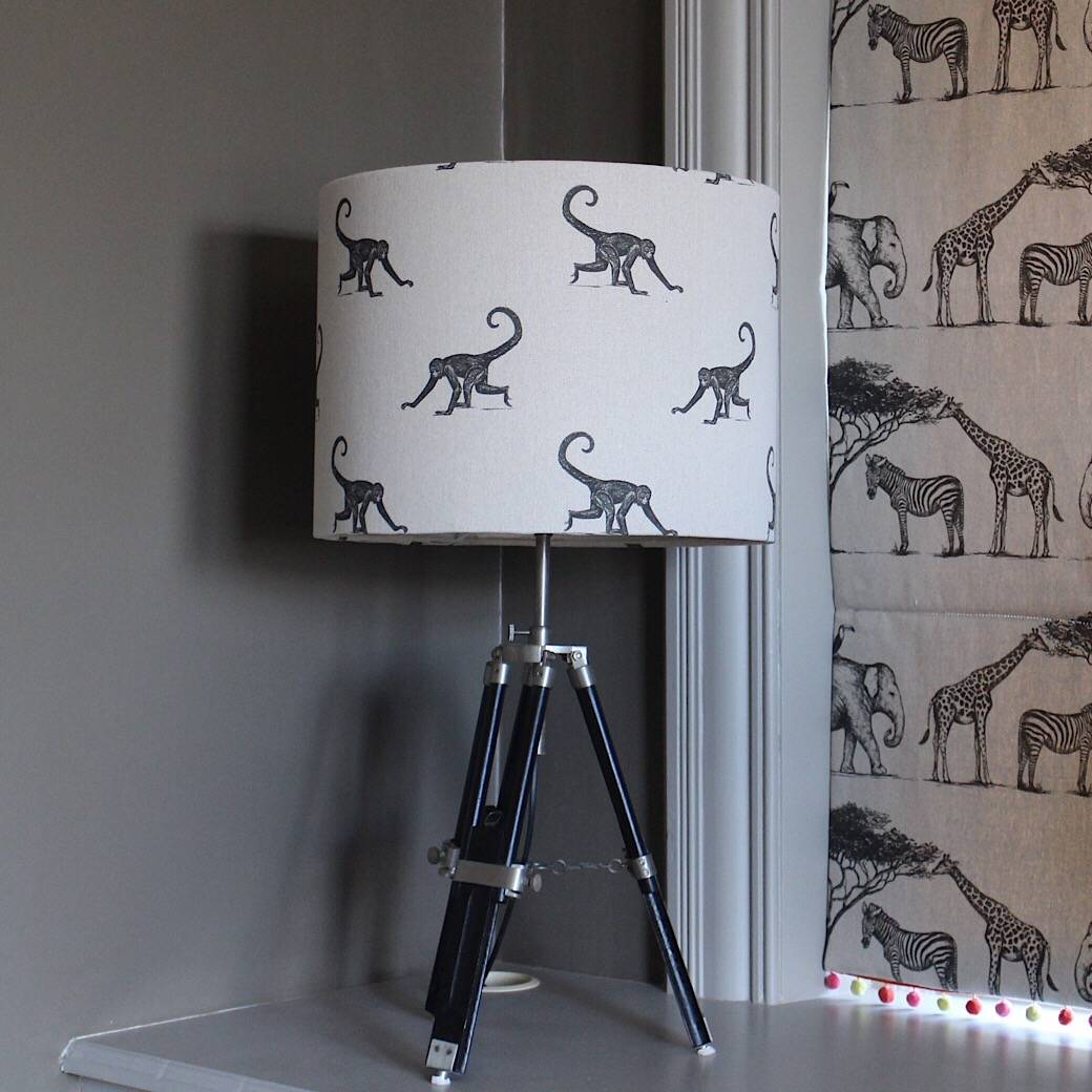 Bespoke Lampshade made using Art of the Loom's Serengeti Collection