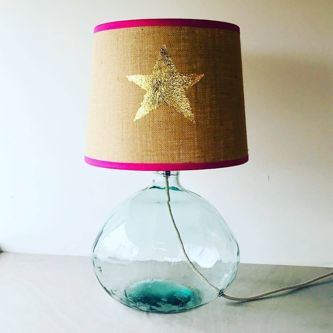 Hessian Shade with Gold Leaf Star